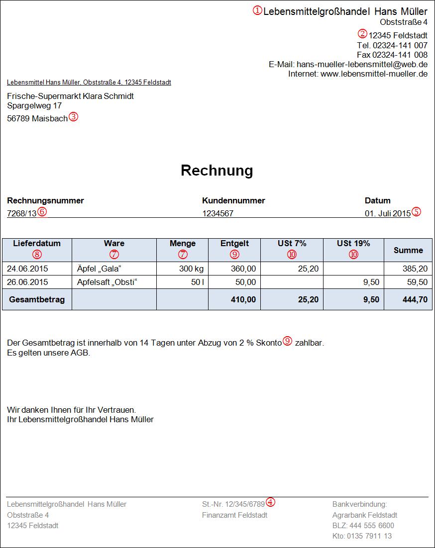 Seite Rechnungen Das Muss Drin Stehen Musterrechnung V001 20150204